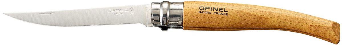 Нож филейный Opinel Slim №10, длина клинка 10 см, цвет: светло-коричневый. 000517 чехол opinel chic для trad 07 08 09 и eff 08 10 цвет коричневый длина 14 см