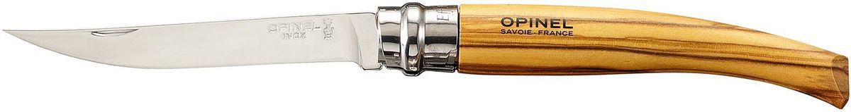 Нож филейный Opinel Slim №10, длина клинка 10 см, цвет: светло-коричневый. 000645 чехол opinel chic для trad 07 08 09 и eff 08 10 цвет коричневый длина 14 см