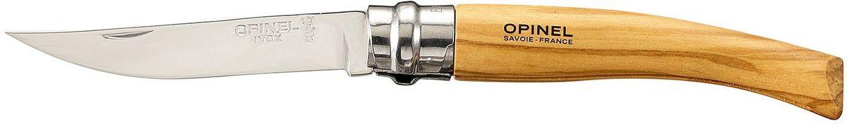 Нож филейный Opinel Slim №08, длина клинка 8 см, цвет: светло-коричневый. 001144 чехол opinel chic для trad 07 08 09 и eff 08 10 цвет коричневый длина 14 см