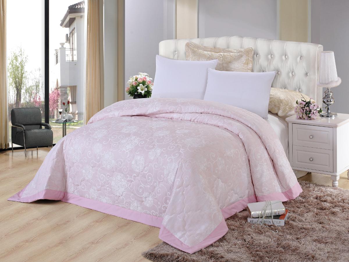 Покрывало Cleo Виктория, цвет: розовый, 240 х 260 см покрывало евростандарт cleo виктория