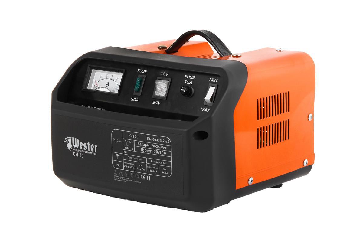 Зарядное устройство Wester CH30 , для АКБ, 700 Вт устройство зарядное wester ch15