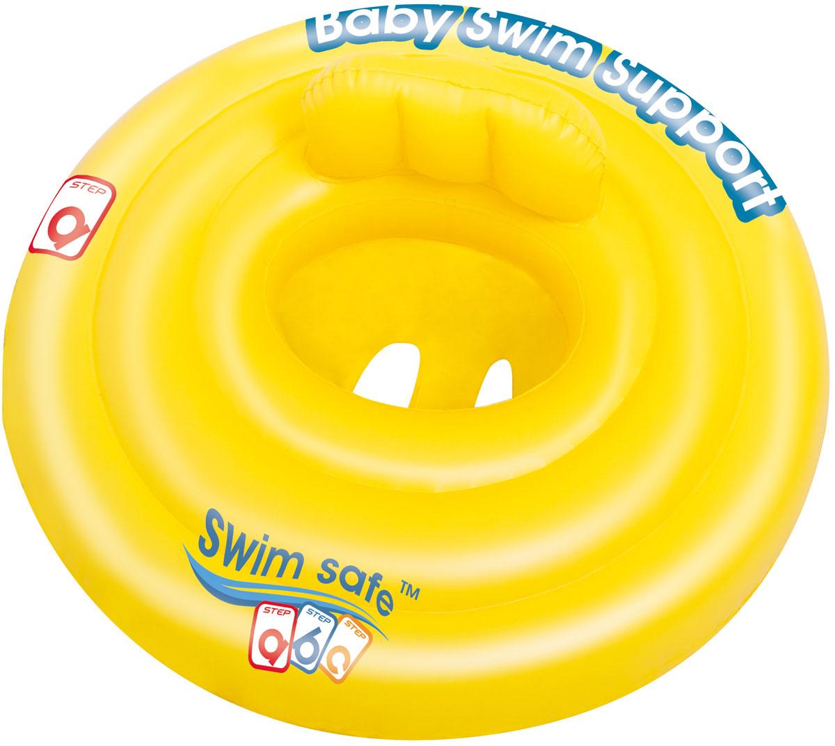 """Bestway Круг для плавания с сиденьем и спинкой """"Swim Safe"""", ступень A. 32096"""