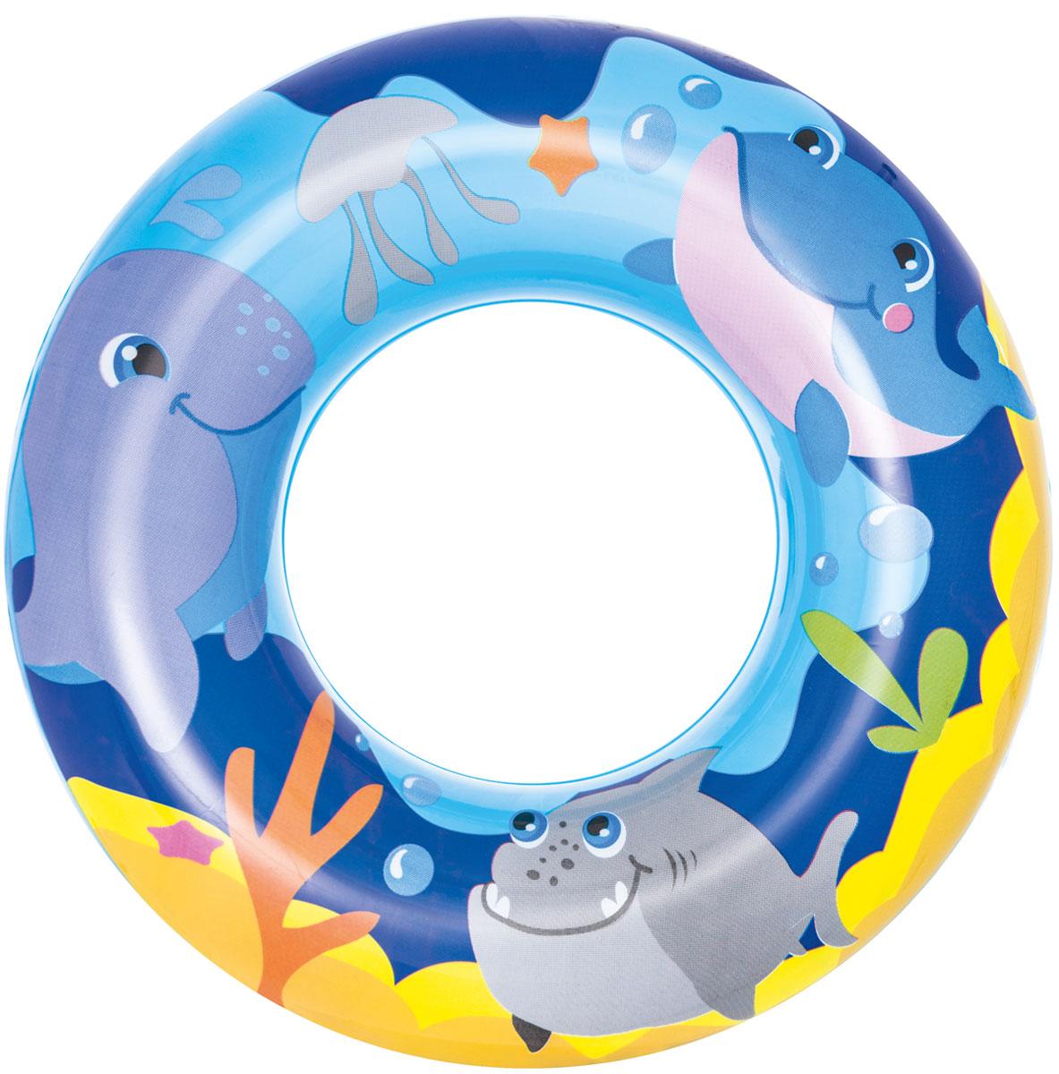 "Bestway Круг для плавания ""Морские приключения"". Синий"