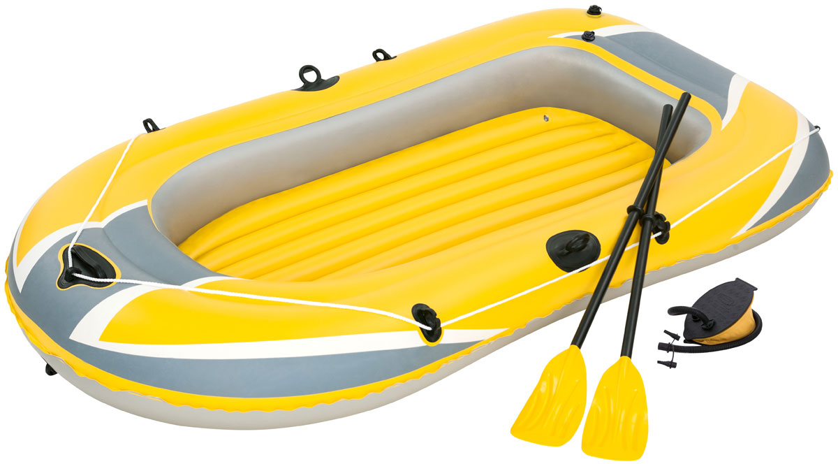 Bestway Лодка надувная гребная с вёслами и насосом