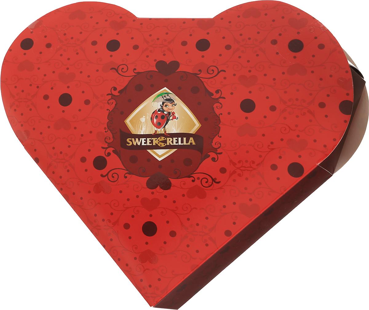 Sweeterella набор шоколадных конфет пламенное сердце, 170 г sweeterella конфеты домик счастья 170 г
