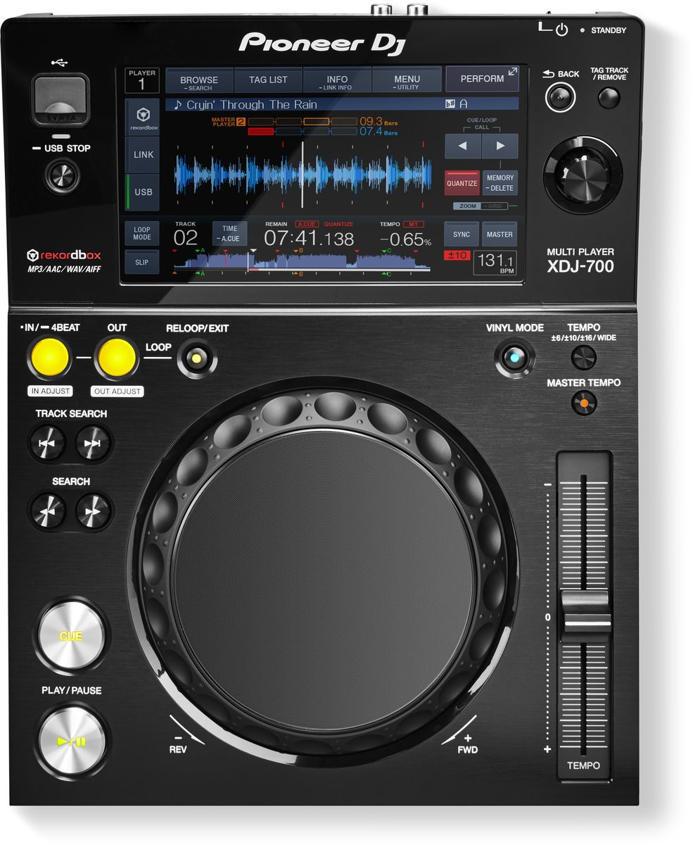 Pioneer XDJ-700 цифровой DJ проигрыватель среднего уровня pioneer xdj 1000