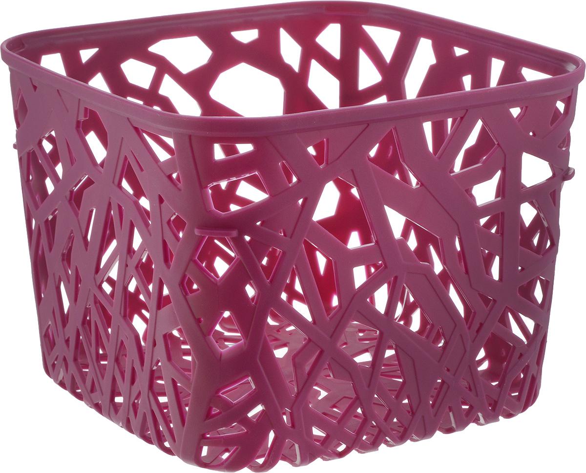 Корзина универсальная Curver Neo Colors, цвет: ярко-фиолетовый, 19 x 19 x 14 см корзина для белья curver ribbon цвет фиолетовый 24 x 17 x 12 см