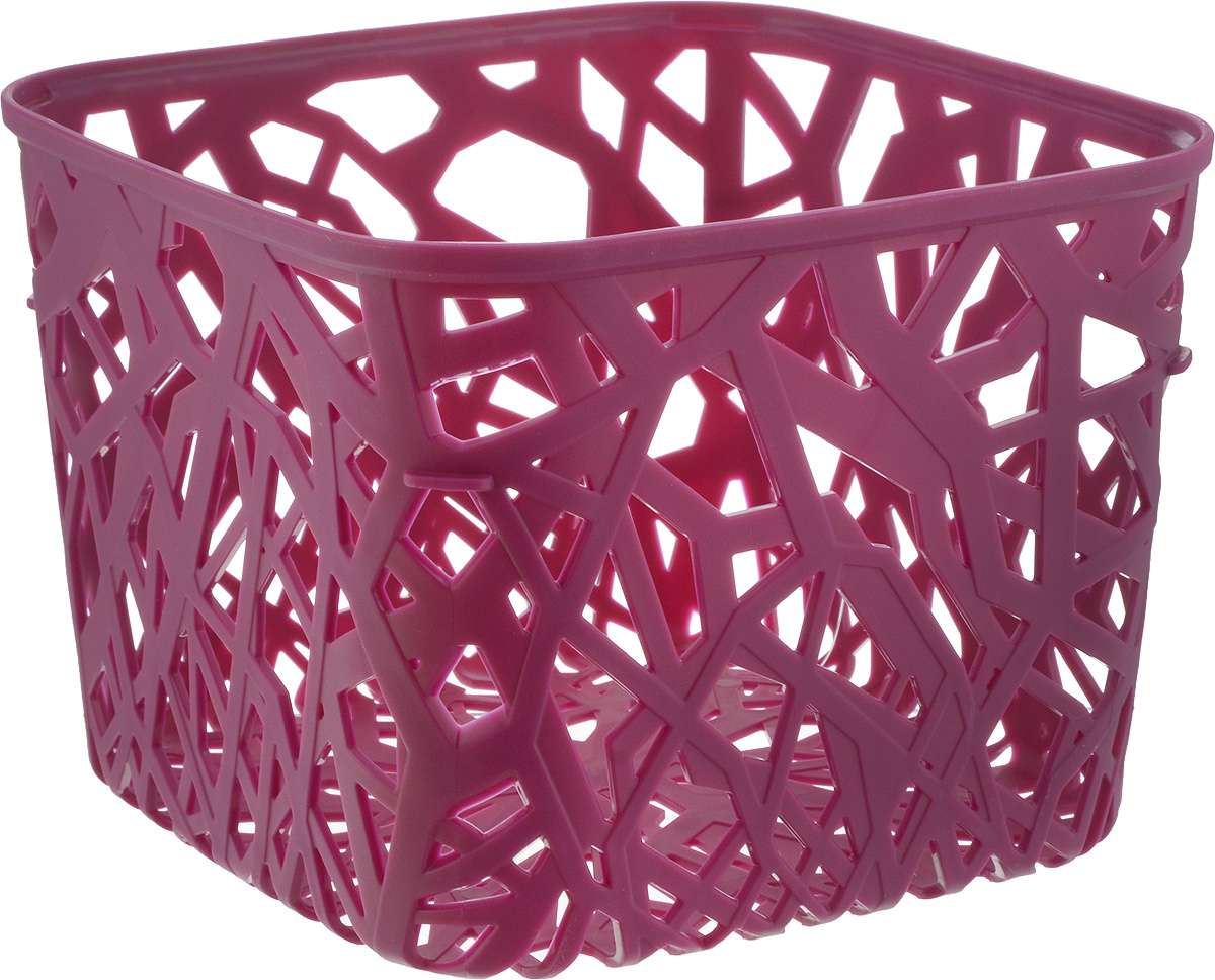 Корзина универсальная Curver Neo Colors, цвет: ярко-фиолетовый, 19 x 19 x 14 см корзина универсальная curver style c крышкой цвет кремовый 30 х 20 х 14 см
