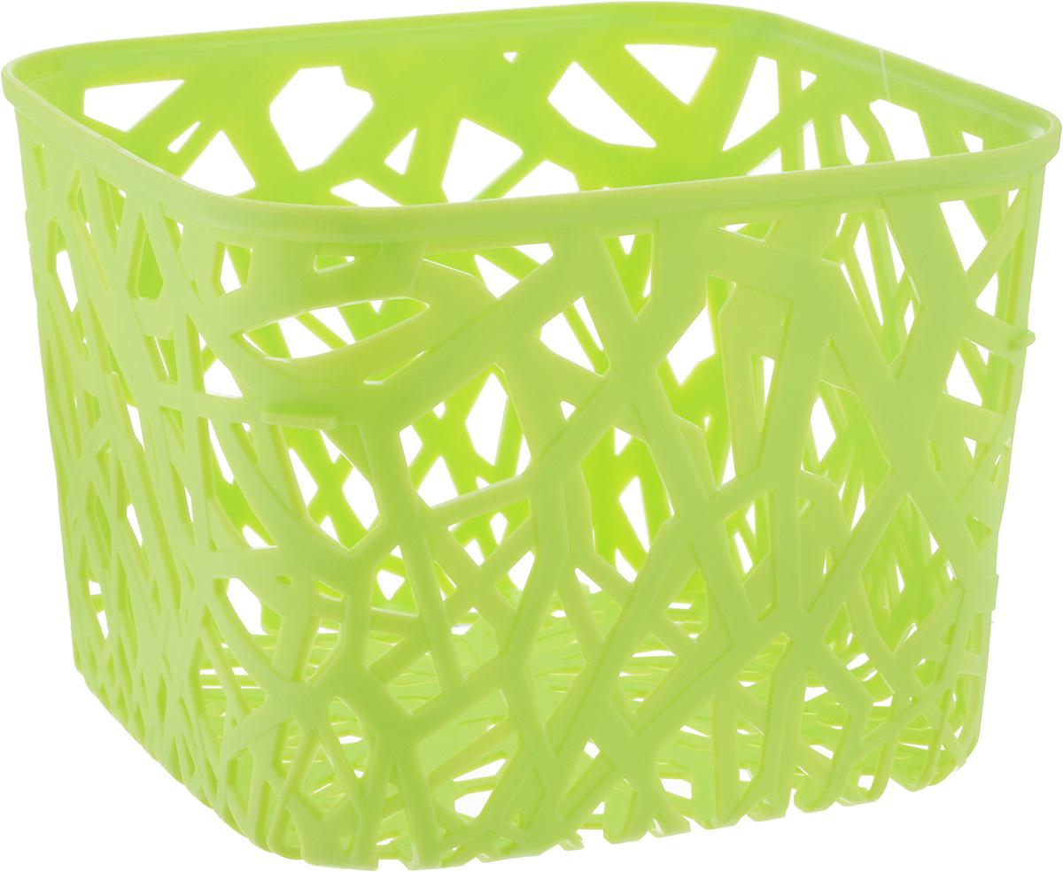 Корзина универсальная Curver Neo Colors, цвет: светло-зеленый, 19 x 19 x 14 см корзина для белья curver ribbon цвет фиолетовый 24 x 17 x 12 см
