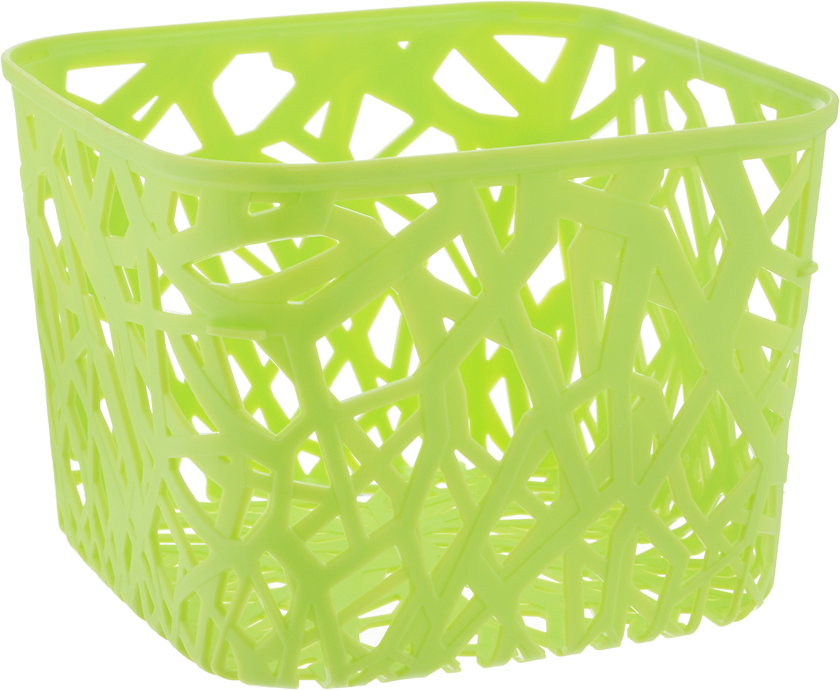 Корзина универсальная Curver Neo Colors, цвет: светло-зеленый, 19 x 19 x 14 см корзина универсальная curver style c крышкой цвет кремовый 30 х 20 х 14 см