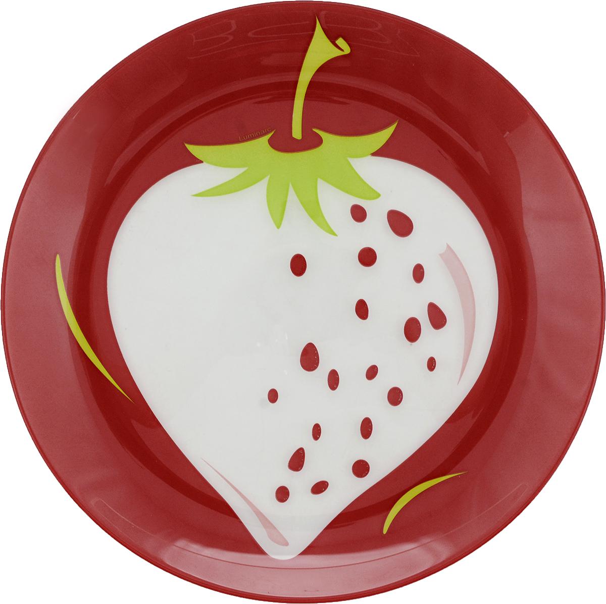 Тарелка десертная Luminarc Клубника, диаметр 20 см тарелка десертная luminarcalizee диаметр 22 см