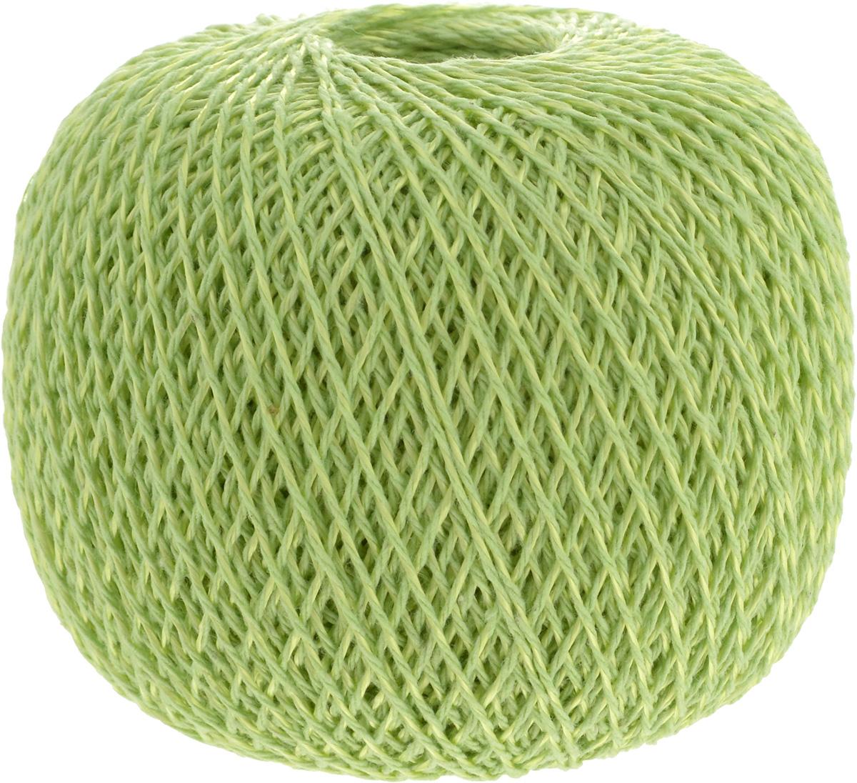 """Нитки вязальные """"Мальва"""", комбинированные, цвет: светло-зеленый (2501), 345 м, 75 г, 4 шт"""