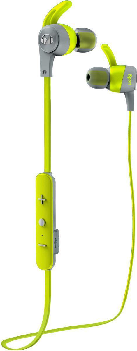 Беспроводные наушники Monster iSport Achieve In-Ear Wireless, зеленый наушники с микрофоном monster isport achieve blue 137093 00