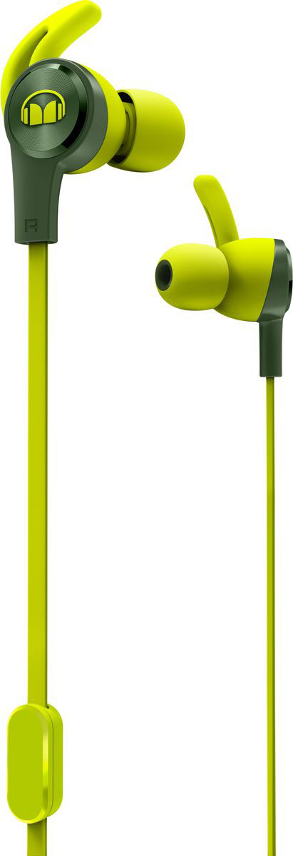 лучшая цена Monster iSport Achieve, Green наушники