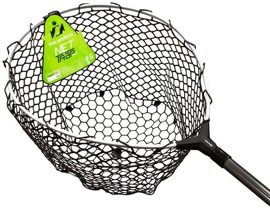 """Подсачек Tsuribito """"Net Trap Tele"""", c силиконовой сеткой, телескопический, 140-210 х 46 х 46 см"""