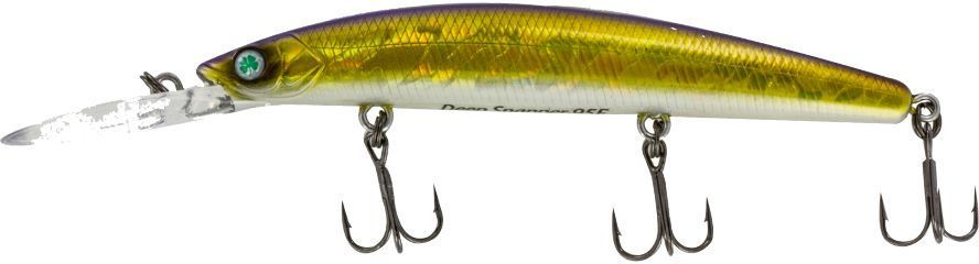 Воблер Yoshi Onyx Deep Snapper-95 F-DR, цвет: золотой, белый, 9,1 г