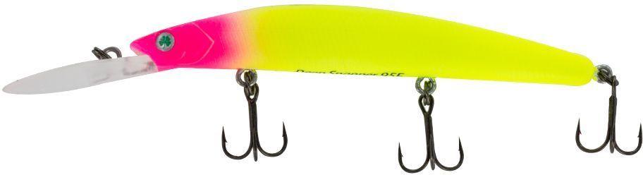 Воблер Yoshi Onyx Deep Snapper-95 F-DR, цвет: желтый, розовый, 9,1 г удилище спиннинговое yoshi onyx genta 862mh