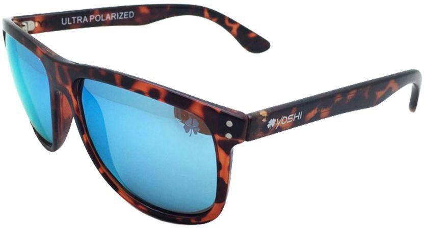 Очки поляризационные Yoshi Onyx, с синими линзами, цвет: каштановый удилище спиннинговое yoshi onyx genta 862mh