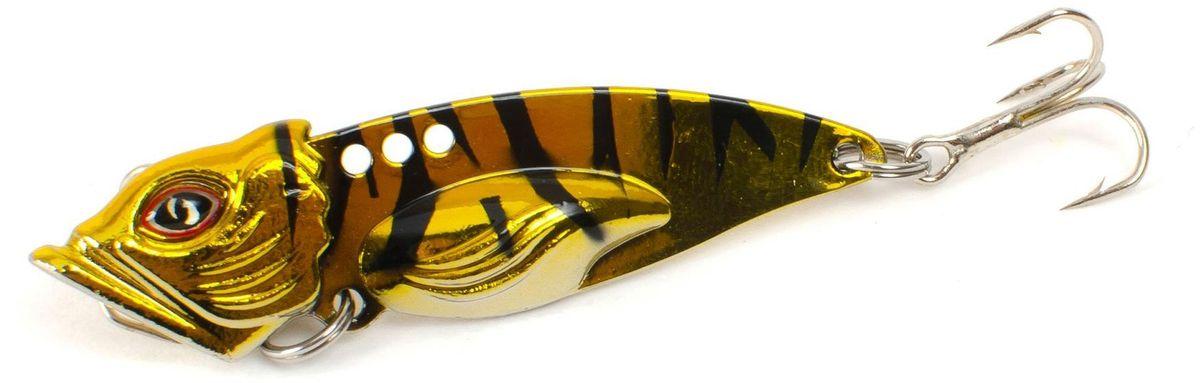 Блесна Yoshi Onyx Yalu Vib Up, цвет: золотой, черный, 10 г