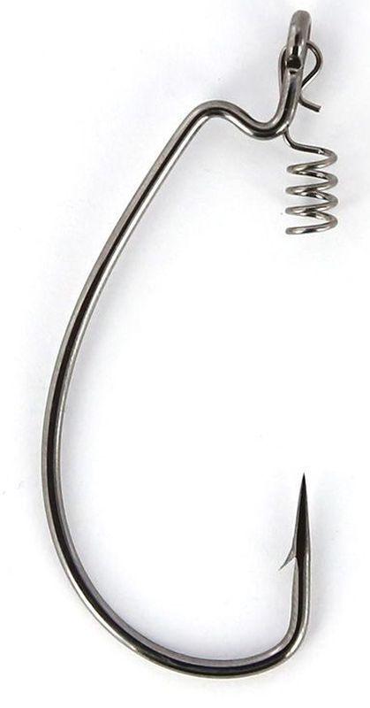 Крючки офсетные Yoshi Onyx Magna Big Eye, HD 1/0, с пружинкой, 5 шт