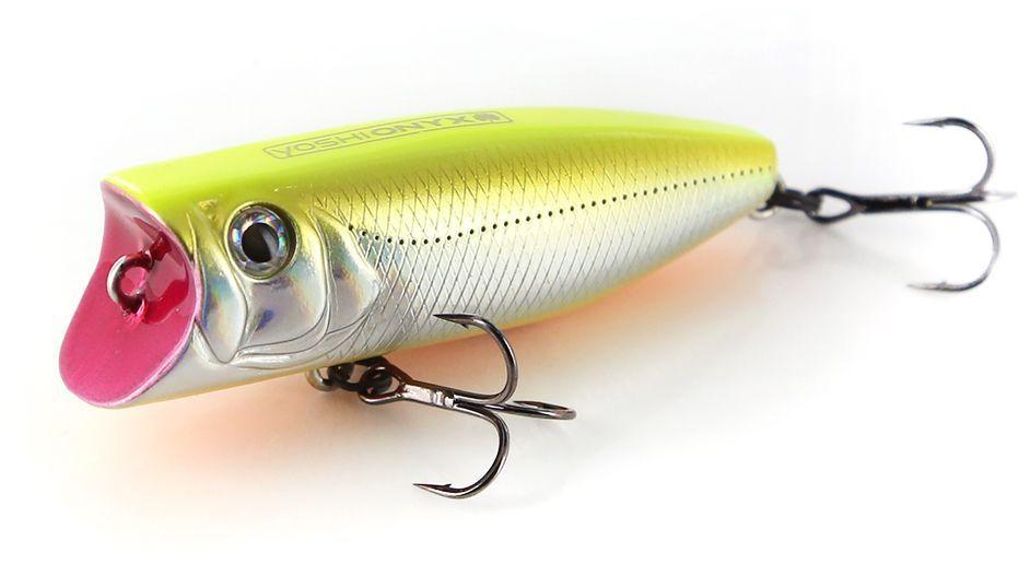 Воблер Yoshi Onyx Pop 60, цвет: желтый, стальной, 6 см, 8,7 г