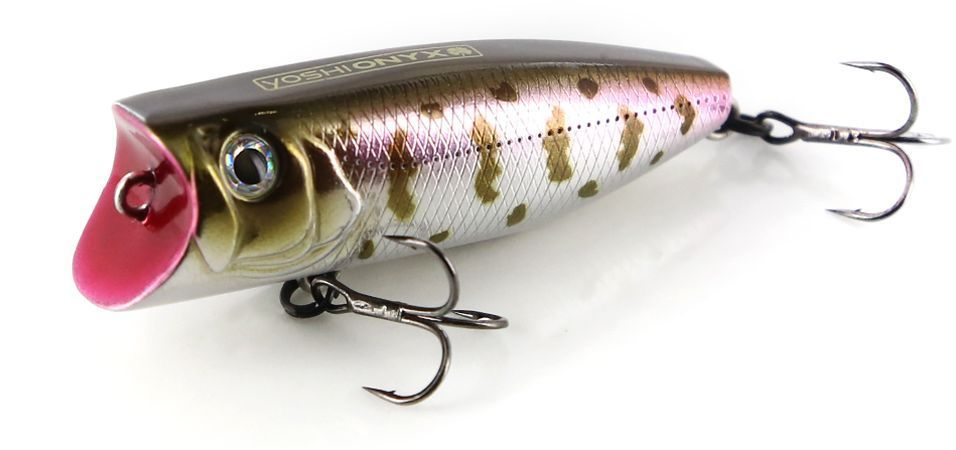 Воблер Yoshi Onyx Pop 60, цвет: стальной, коричневый, розовый, 6 см, 8,7 г
