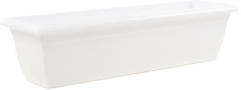 Ящик балконный Santino, цвет: белый, 60 х 15 х 15 см ящик балконный emsa country цвет серый 50 x 17 x 15 см