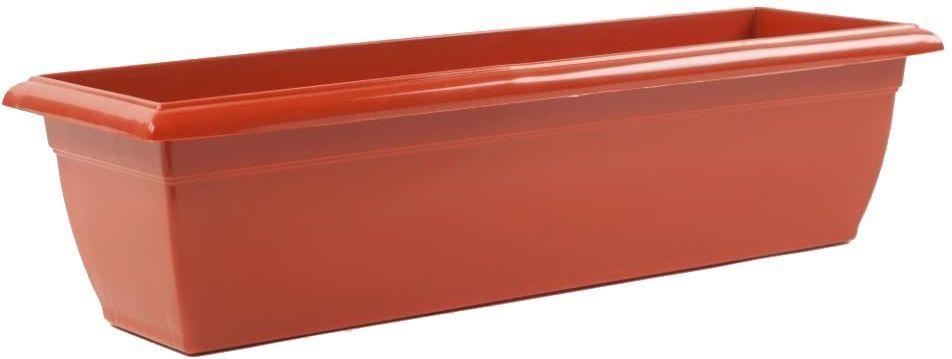 Ящик балконный Santino, цвет: терракотовый, 60 х 15 х 15 см цена