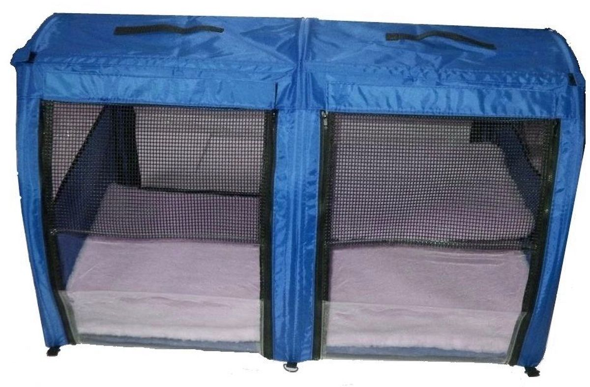 """Клетка для животных """"Заря-Плюс"""", выставочная, цвет: голубой, 101 х 58 х 54 см. КВП2"""