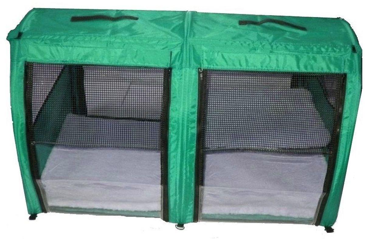 """Клетка для животных """"Заря-Плюс"""", выставочная, цвет: зеленый, 101 х 58 х 54 см. КВП2"""