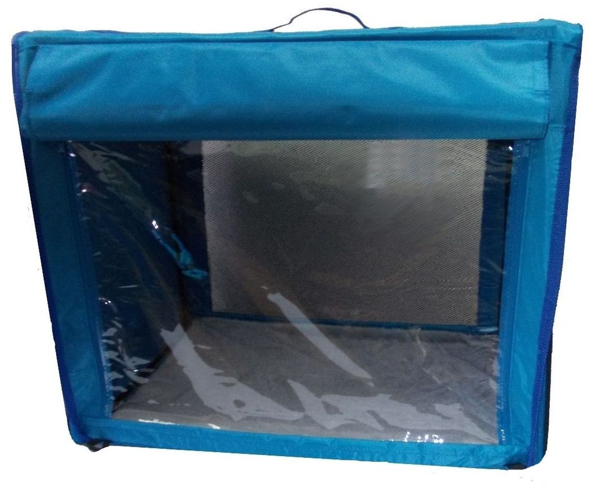 "Клетка для животных ""Заря-Плюс"", выставочная, цвет: голубой, 75 х 60 х 50 см. КТВ2"