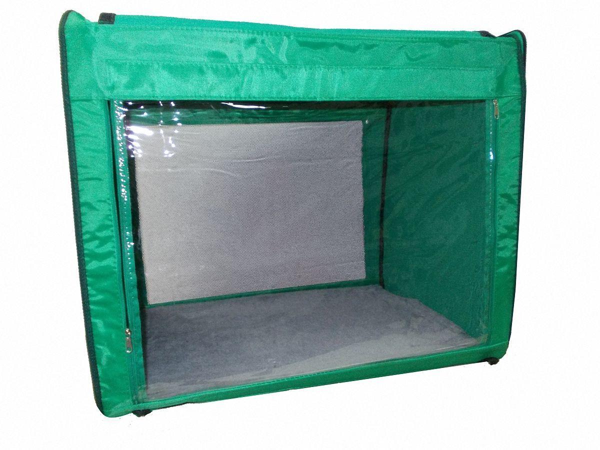 """Клетка для животных """"Заря-Плюс"""", выставочная, цвет: зеленый, 75 х 60 х 50 см. КТВ2"""
