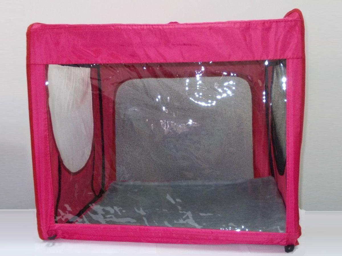 """Клетка для животных """"Заря-Плюс"""", выставочная, цвет: малиновый, 75 х 60 х 50 см. КТВ2/1"""