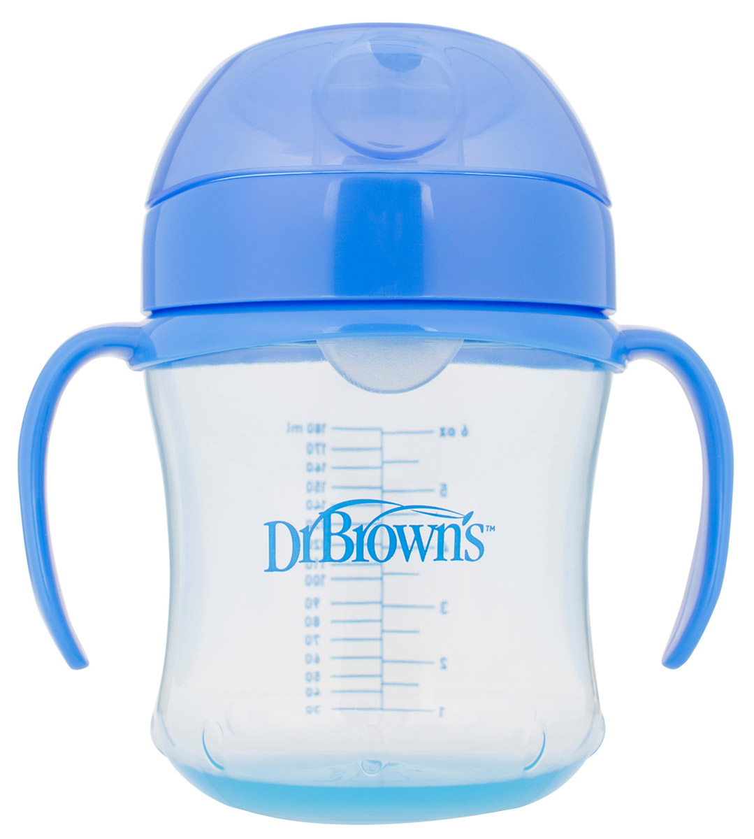 Фото - Dr. Brown's Поильник-непроливайка с мягким носиком от 6 месяцев цвет синий 180 мл поильник непроливайка с мягким носиком суперталия от 6 мес 260 мл полипропилен