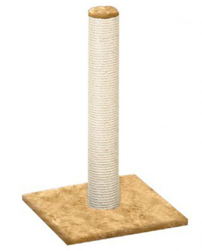 "Когтеточка ""Столбик"", джут, цвет: бежевый, 41 х 100 х 41 см"