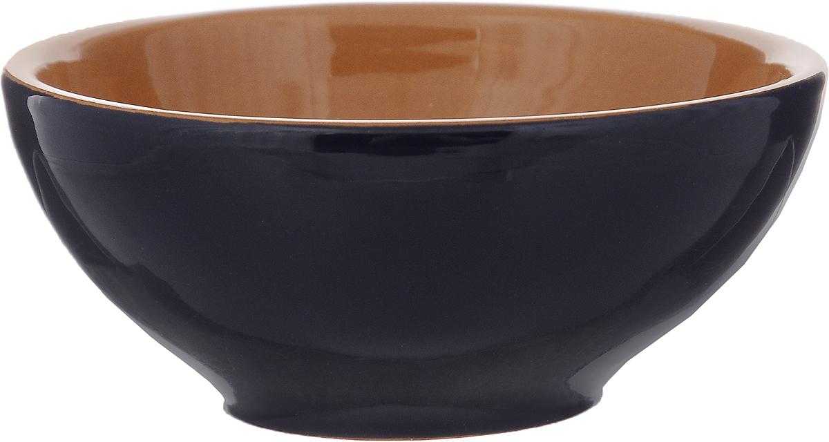 Розетка для варенья Борисовская керамика Радуга, цвет: темно-синий, светло-коричневый, 200 мл розетка для варенья борисовская керамика радуга цвет голубой 200 мл