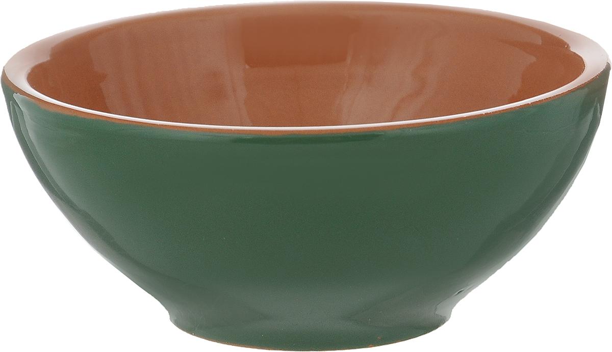 Розетка для варенья Борисовская керамика Радуга, цвет: зеленый, светло-коричневый, 200 мл розетка для варенья борисовская керамика радуга цвет голубой 200 мл