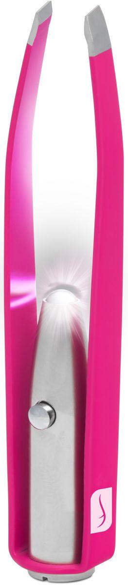 Flo Маникюрные щипцы Led Illuminating Tweezers, с LED-фонариком, цвет: фуксияFP-810-604FИзготовлено из прочной нержавеющей стали. В пинцет встроена яркая светодиодная лампа. Можно провозить в ручной клади. Способ применения: Снимите защитный пластик на кнопке используйте фонарик для подсвечивания самых тонких волосков. Состав: Аллюминий, сталь, светодиодная лампа. Как ухаживать за ногтями: советы эксперта. Статья OZON Гид