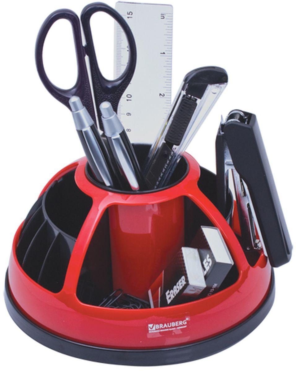 Brauberg Канцелярский набор 9 предметов цвет черный красный 231929