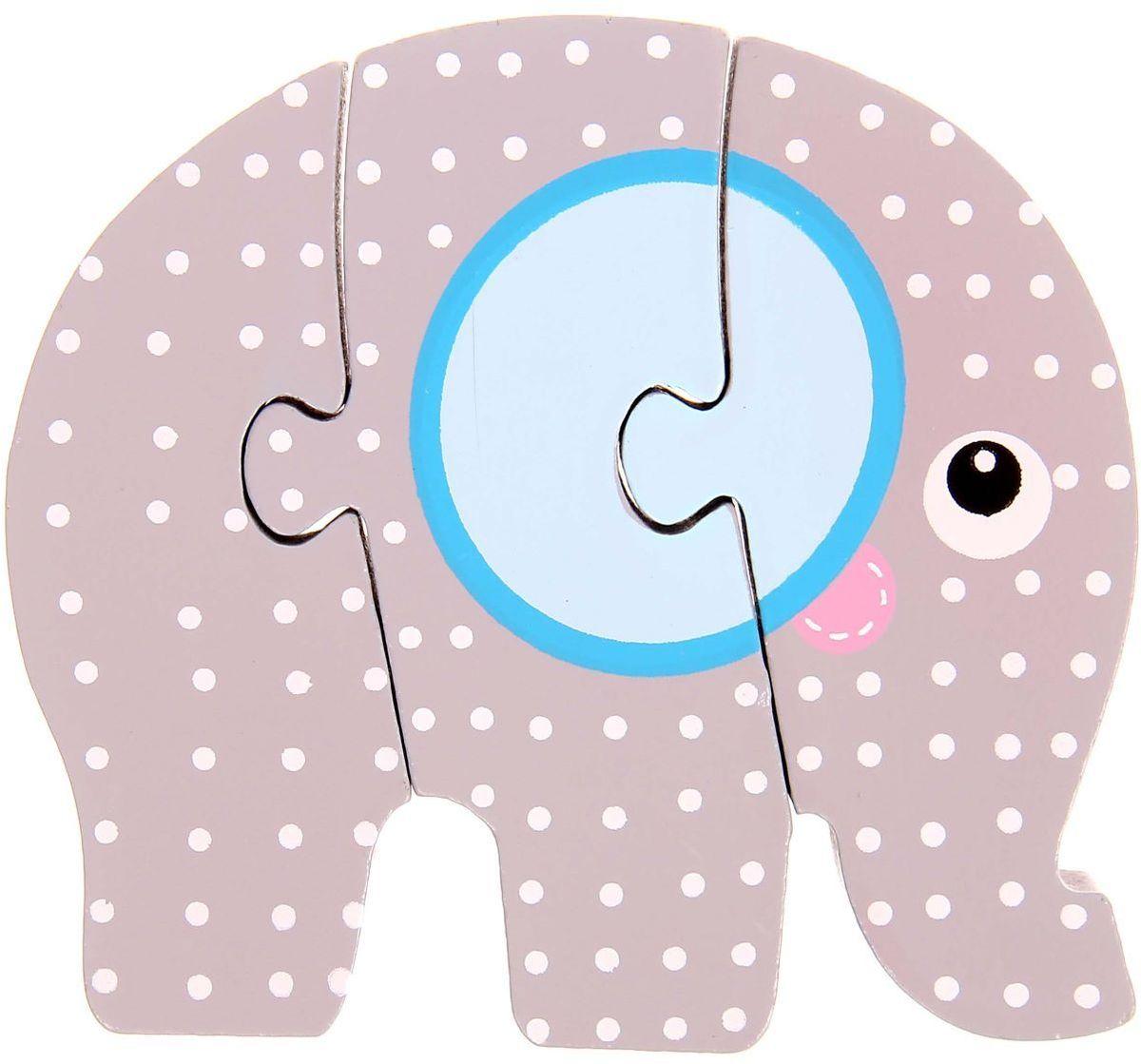 Лесная мастерская Пазл для малышей Слон 1160411 лесная мастерская пазл для малышей олень