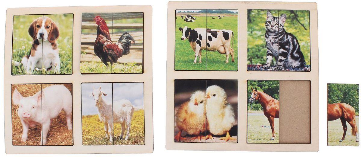 Smile Decor Пазл для малышей Картинки-половинки Домашние животные 1187596 пазл контур для малышей домашние животные в к 27 5 20 4 см