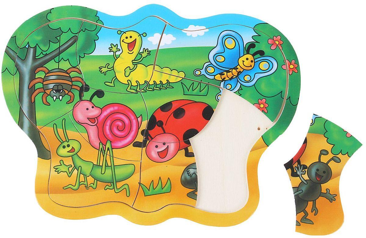 Лесная мастерская Пазл для малышей Веселые букашки 1205607 лесная мастерская пазл для малышей олень