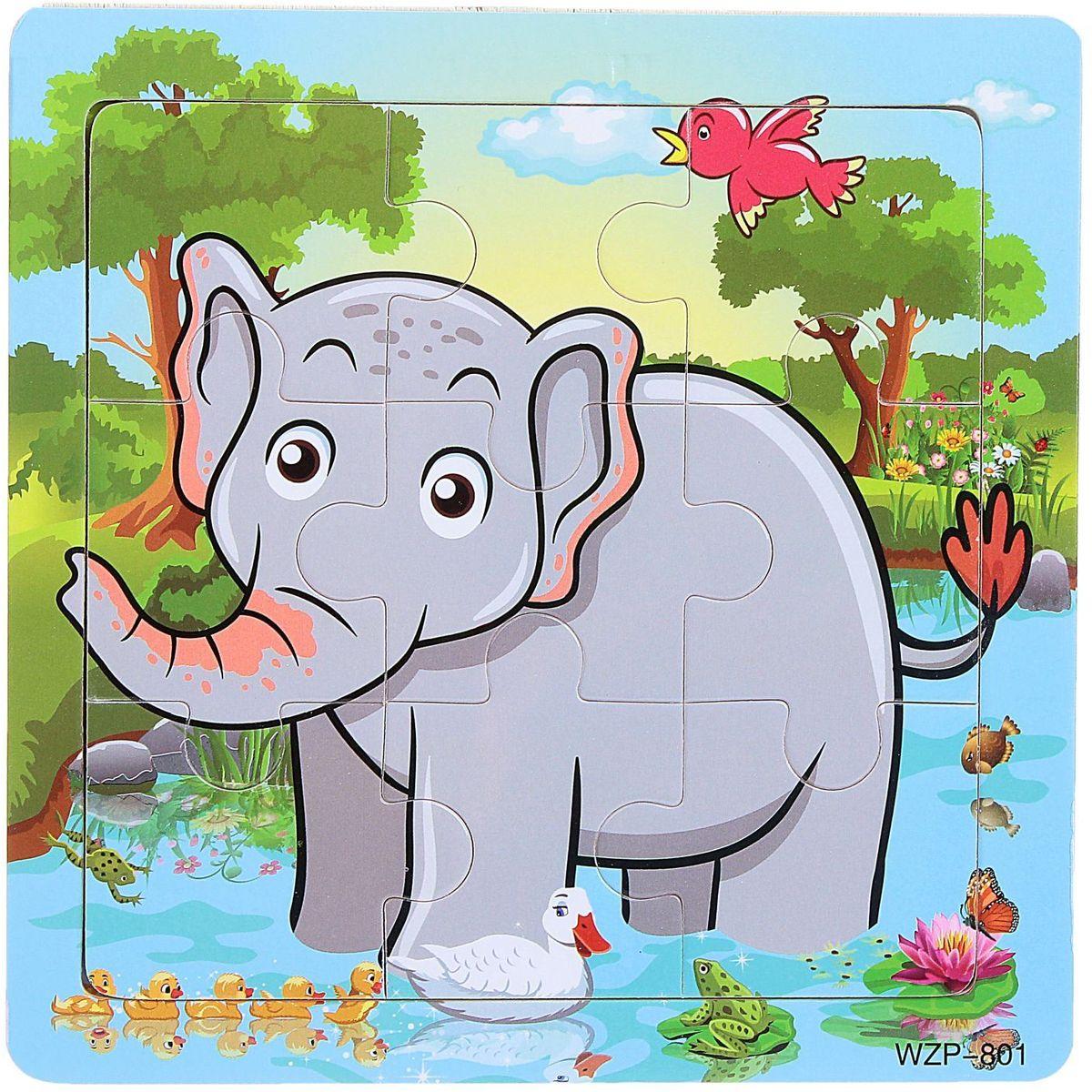 Лесная мастерская Пазл для малышей Слон 1670436 лесная мастерская пазл для малышей олень