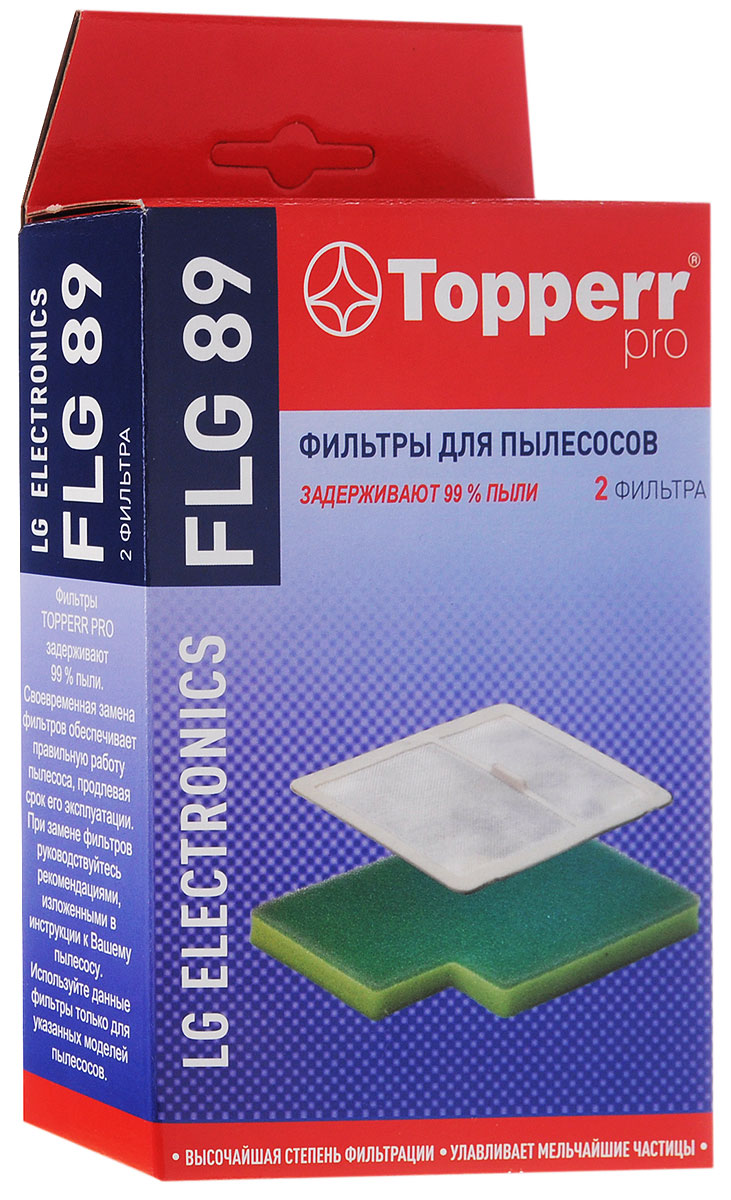 Topperr FLG 89 комплект фильтров для пылесосовLG Electronics neolux flg 89 набор моторных фильтров для пылесоса lg