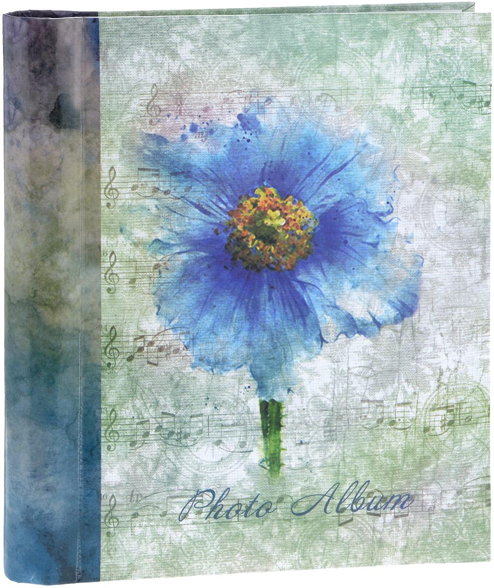 Фотоальбом Platinum Цветочная коллекция - 7, 30 листов, цвет: голубой, зеленый. 9820-30 berlingo бумага для заметок c клеевым краем 7 6 х 7 6 см цвет зеленый 100 листов