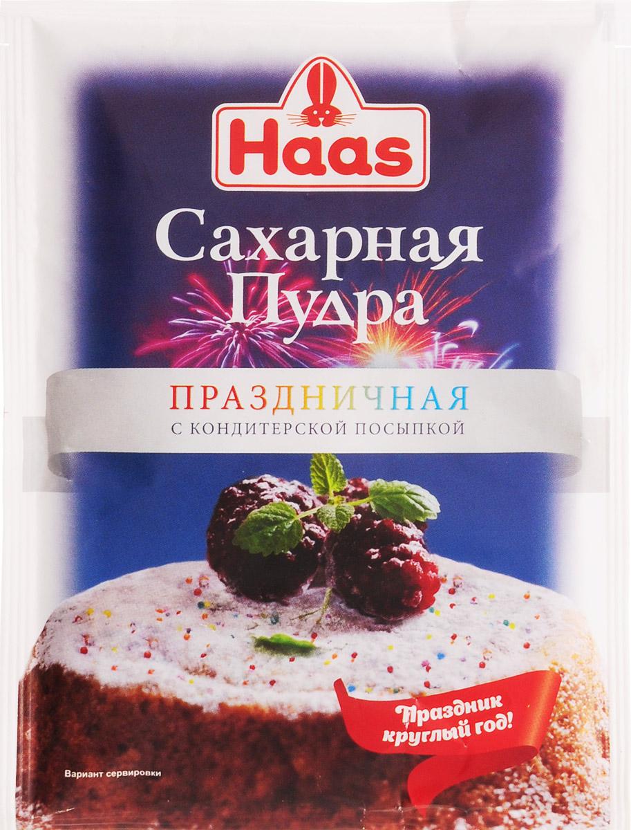 Haas сахарная пудра праздничная с кондитерской посыпкой, 80 г haas пудинг банановый 40 г