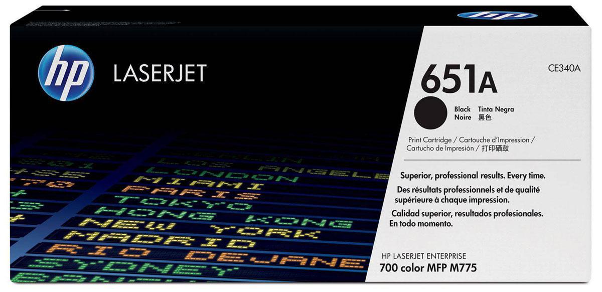Картридж HP 651A, черный, для лазерного принтера, оригинал