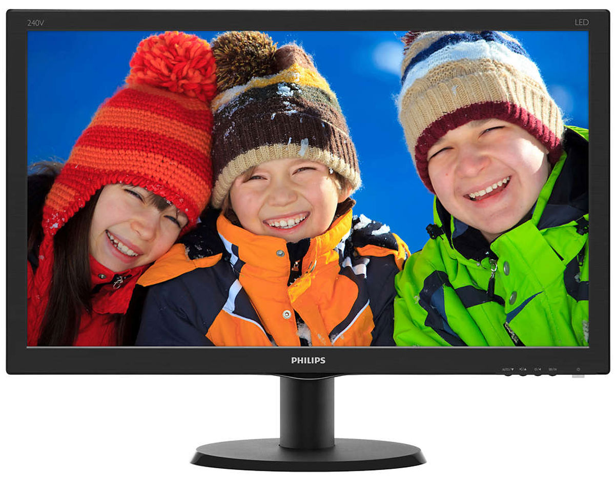 Монитор Philips 240V5QDAB, Black 240v5qdab
