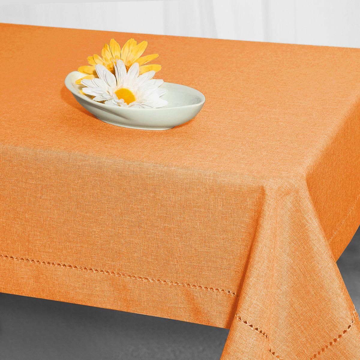 """Скатерть """"Schaefer"""", прямоугольная, цвет: оранжевый, 160 x 220 см. 07599-408"""