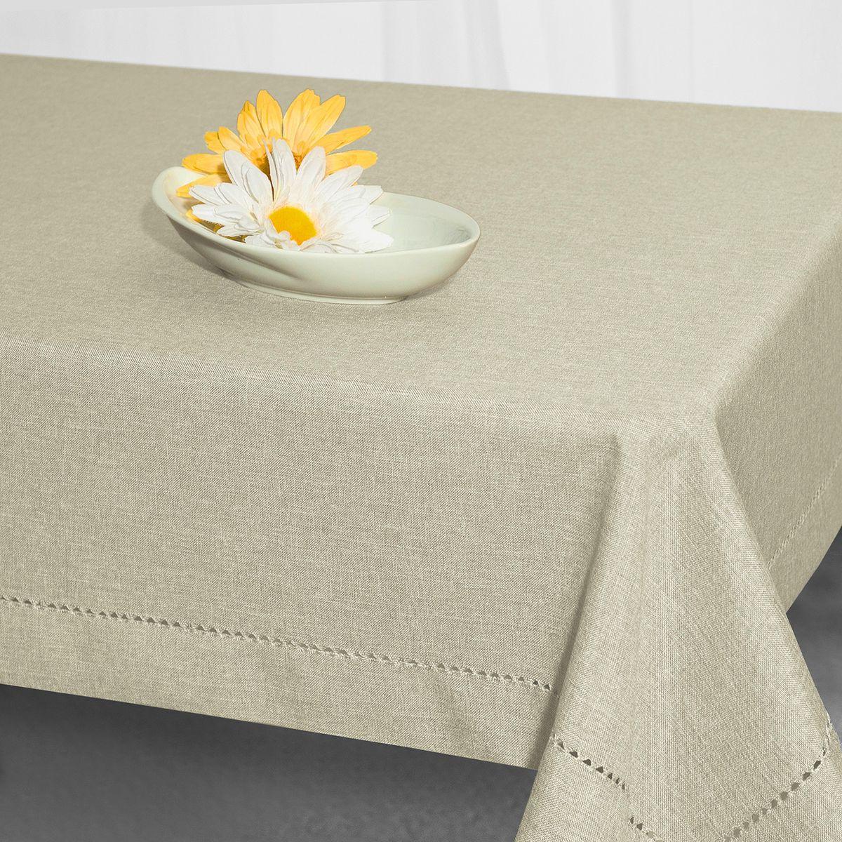 Скатерть Schaefer, прямоугольная, цвет: серый, 135 x 225 см. 07600-449